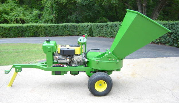 "14 hp electric start 5"" horizontal wood chipper"